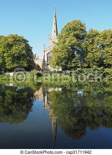 Holy Trinity church in Stratford upon Avon - csp31711942
