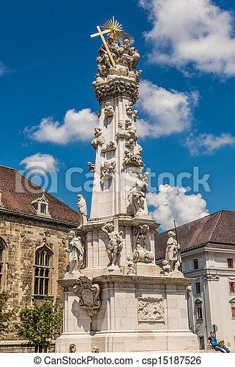 Holy trinity column in Budapest - csp15187526