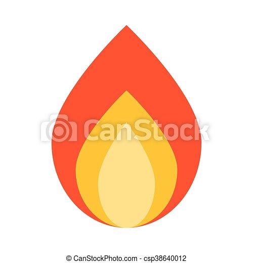 Vektorgrafik Freigestellt Holz Flamme Lagerfeuer Ikone