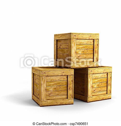 holz kisten h lzern aus drei kisten hintergrund wei es. Black Bedroom Furniture Sets. Home Design Ideas