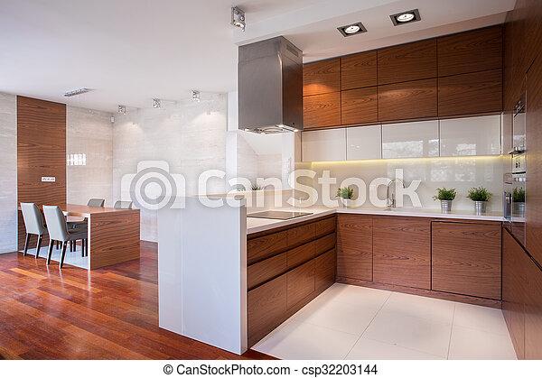 Holz, modern, kueche. Holz, modern, glänzend, marmor, kueche.