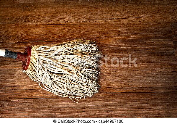 Fußboden Putzen ~ Holz putzen wischmop detail boden. brauner wischmop boden