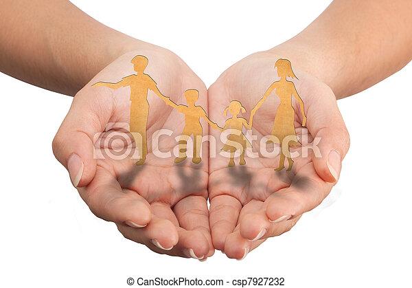 holz, schnitt, familie, begriff, machen, beschaffenheit, papier, wärme, heraus - csp7927232