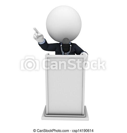3D blancos como hombres de negocios - csp14190614