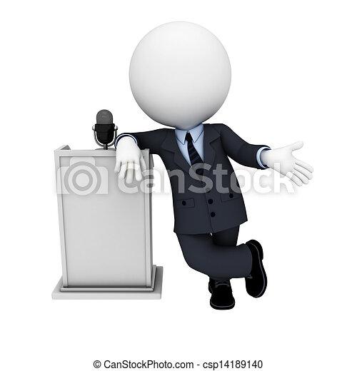 3D blancos como hombres de negocios - csp14189140