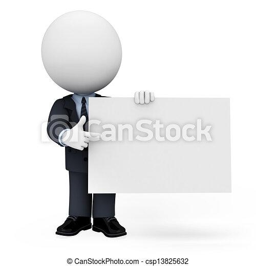 3D blancos como hombres de negocios - csp13825632
