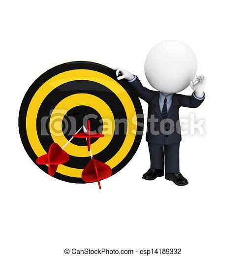3D blancos como hombres de negocios - csp14189332