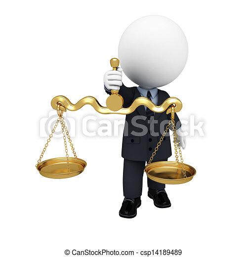 3D blancos como hombres de negocios - csp14189489