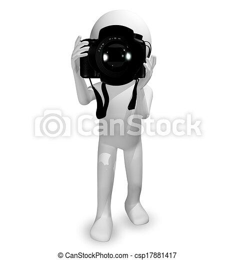 Un hombre con una cámara - csp17881417