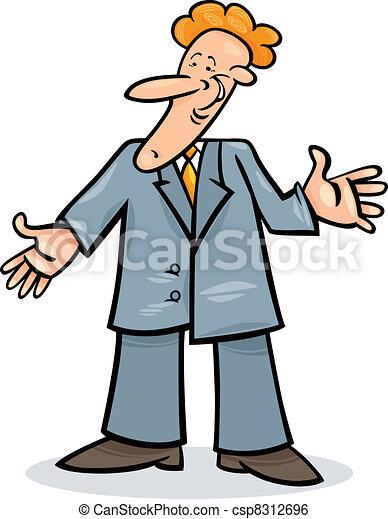 Un hombre de cartón con traje - csp8312696