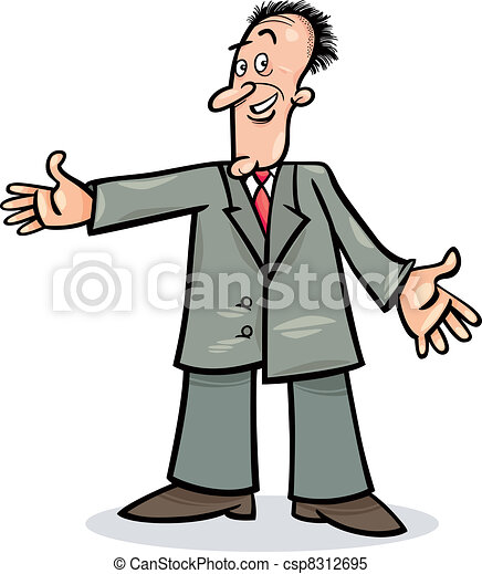 Un hombre de cartón con traje - csp8312695