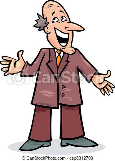 Un hombre de cartón con traje - csp8312700