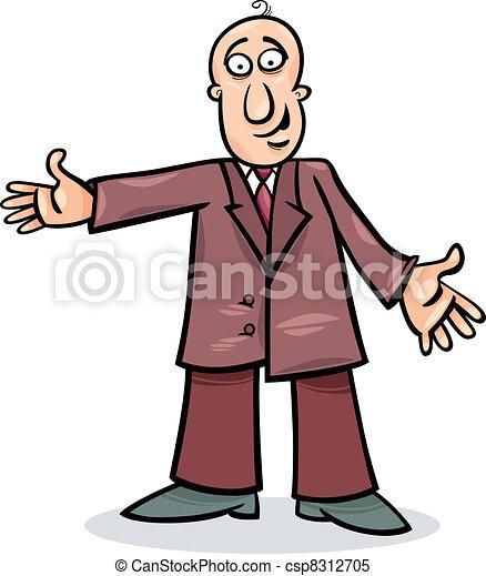 Un hombre de cartón con traje - csp8312705