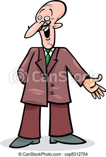 Un hombre de cartón con traje - csp8312704