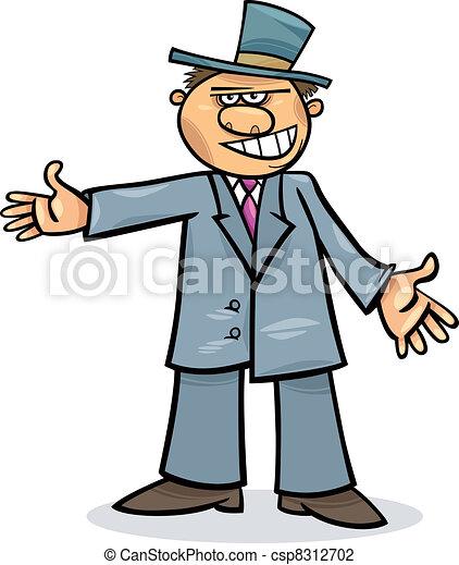 Un hombre de cartón con traje - csp8312702