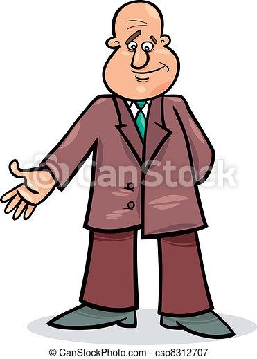 Un hombre de cartón con traje - csp8312707
