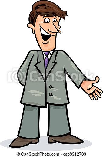 Un hombre de cartón con traje - csp8312703