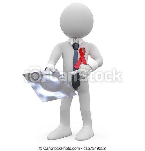 Un hombre con un codom - csp7349252