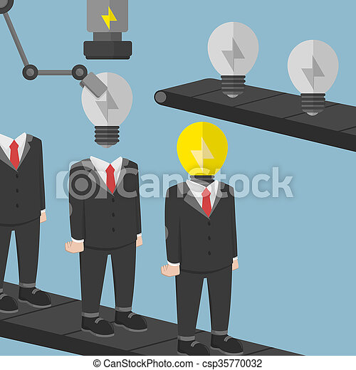 Empresario creativo hombre de negocios - csp35770032