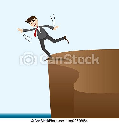 Un hombre de negocios peligroso en Cliff - csp20526984