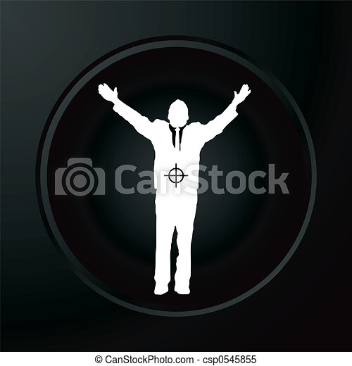 Hombre de negocios objetivo - csp0545855