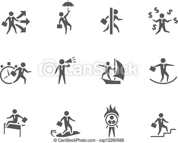 Iconos de BW - hombre de negocios - csp12260566