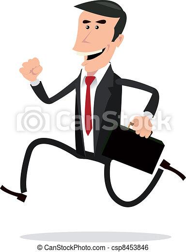 Un hombre de negocios apurado - csp8453846