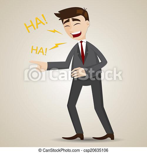 Hombre de negocios sonriente - csp20635106