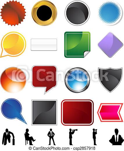 La variedad del concepto de los hombres de negocios - csp2857918