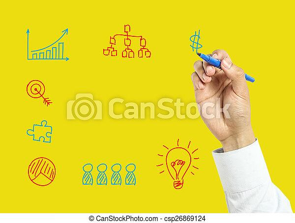 El concepto de negocio de los hombres de negocios - csp26869124