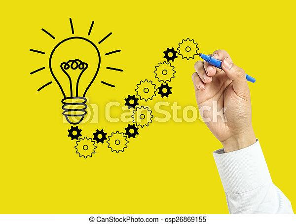 El concepto de la solución de los hombres de negocios - csp26869155