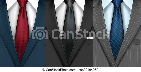 Traje de hombre de negocios - csp22194260