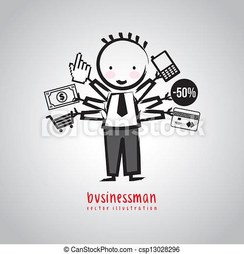 Hombre de negocios - csp13028296