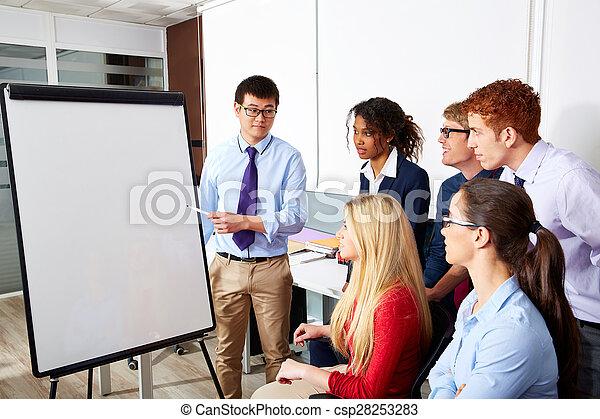 Equipo ejecutivo de presentación de empresarios - csp28253283
