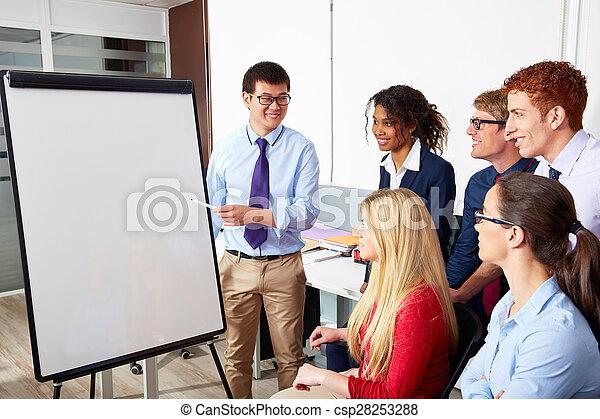 Equipo ejecutivo de presentación de empresarios - csp28253288