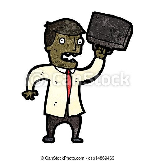 Un hombre de negocios enojado - csp14869463