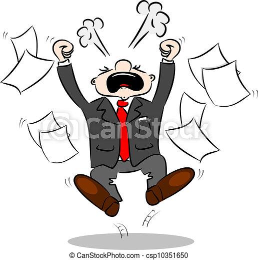 Hombre de negocios de caricaturas enojados - csp10351650