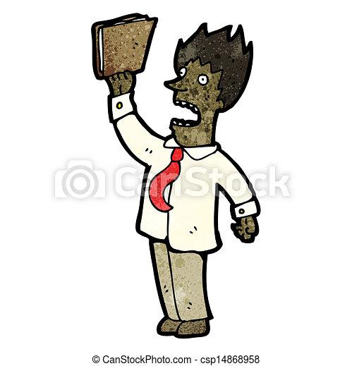 Dibujos de hombre de negocios enojados - csp14868958
