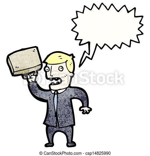 Un hombre de negocios enojado - csp14825990