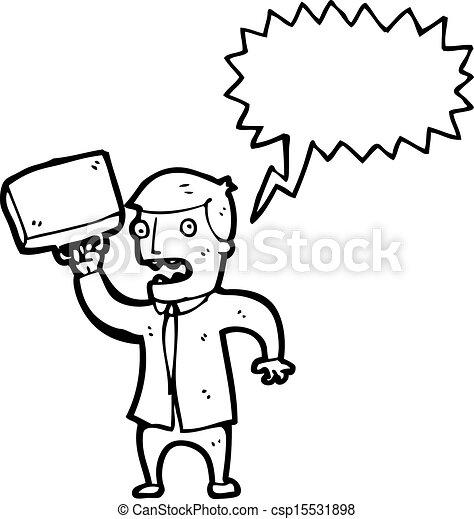 Un hombre de negocios enojado - csp15531898