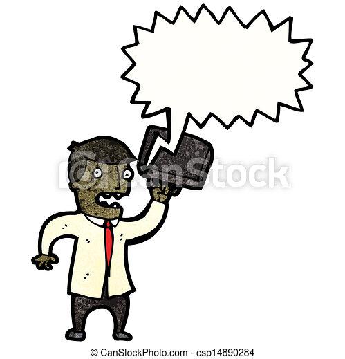 Un hombre de negocios enojado - csp14890284