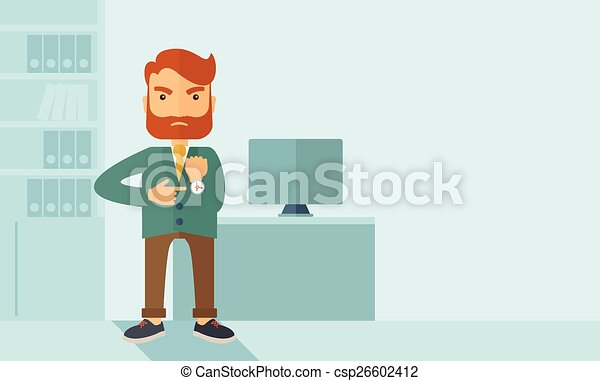 Un hombre de negocios enojado - csp26602412