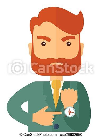Un hombre de negocios enojado - csp26602650