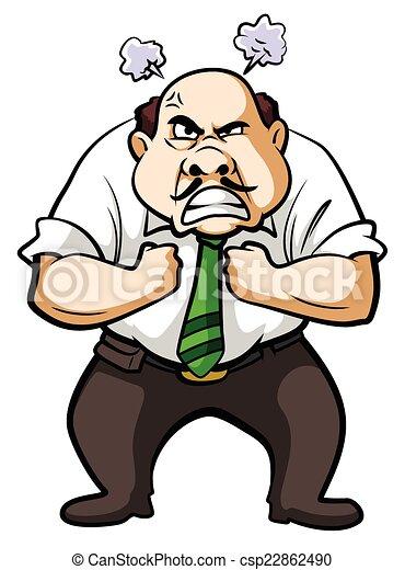 Un hombre de negocios enojado - csp22862490