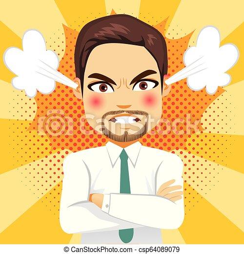 Un empresario furioso - csp64089079