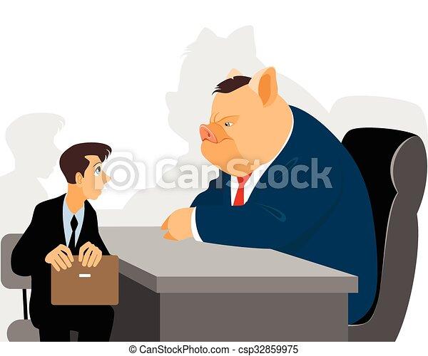 Hombre de negocios en recepción - csp32859975