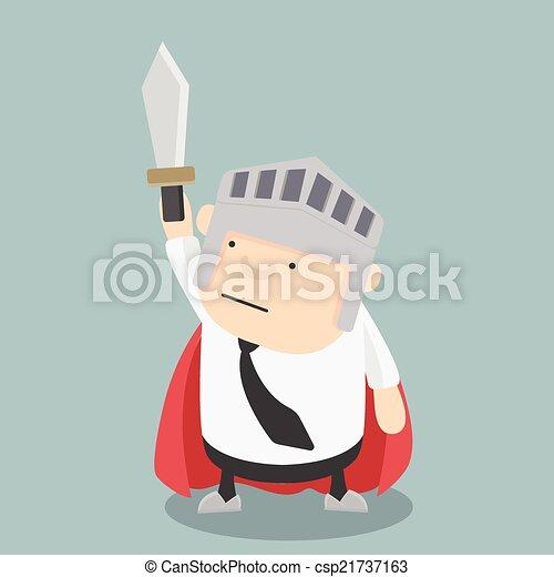 Espada de empresario gordo - csp21737163