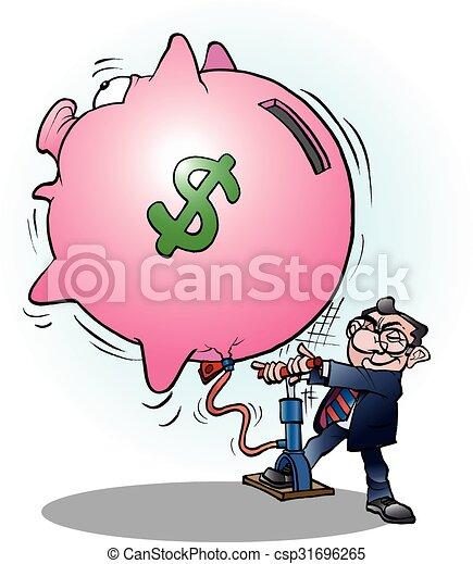 Empresario inflado el dólar de la economía - csp31696265