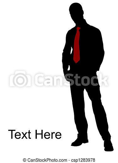 Toda pose de hombre de negocios - csp1283978