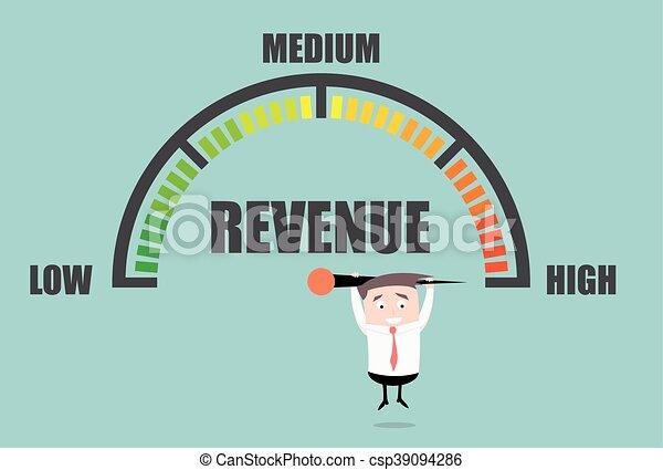 Medidor de ingresos de empresarios - csp39094286